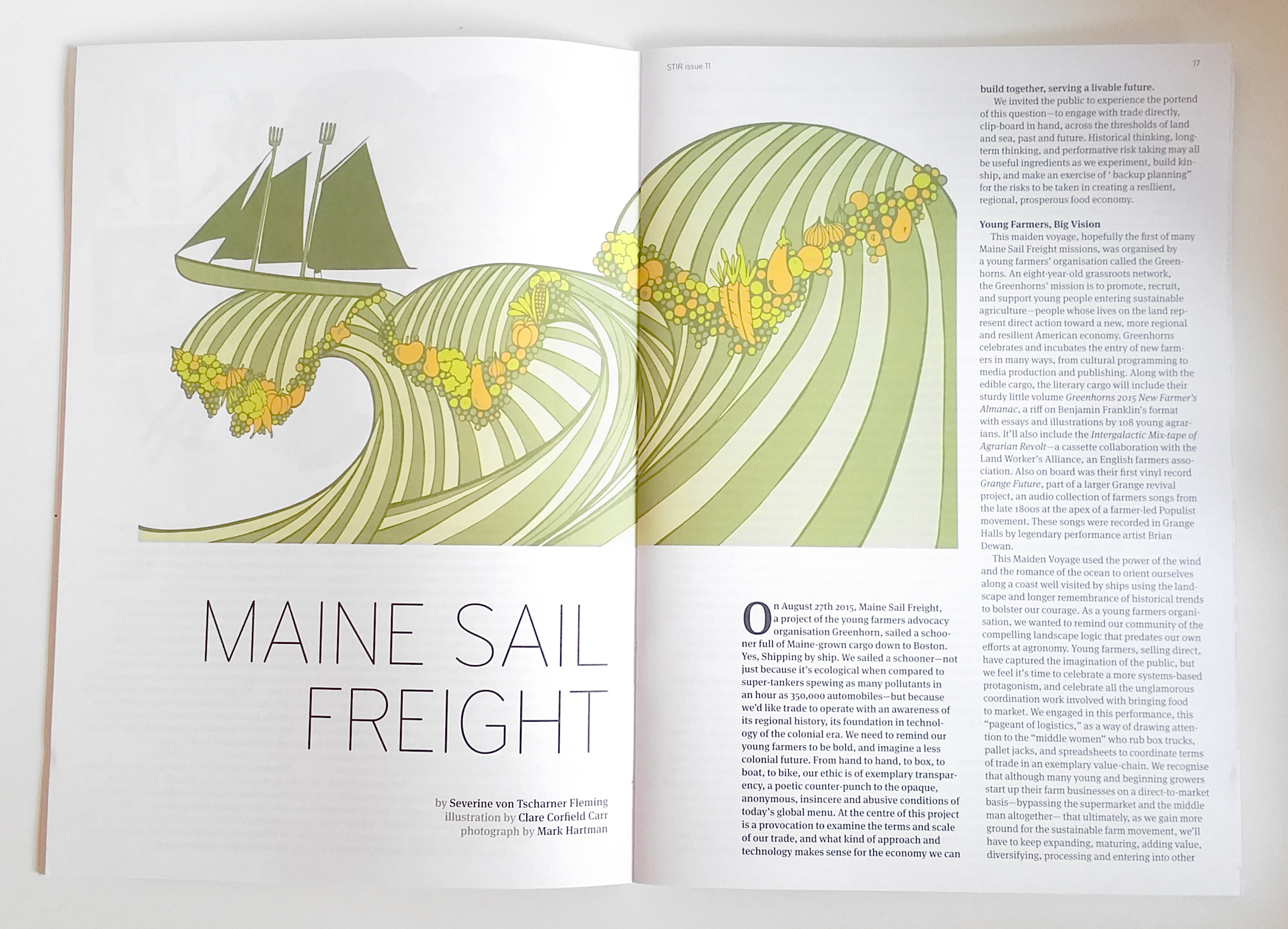 Maine Sail Freight, Editorial Illustration for Stir to Action Magazine