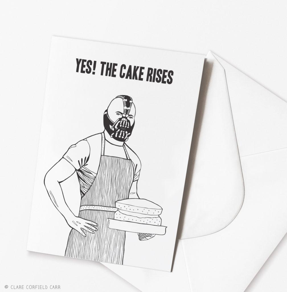 funny bane birthday card batman birthday cake