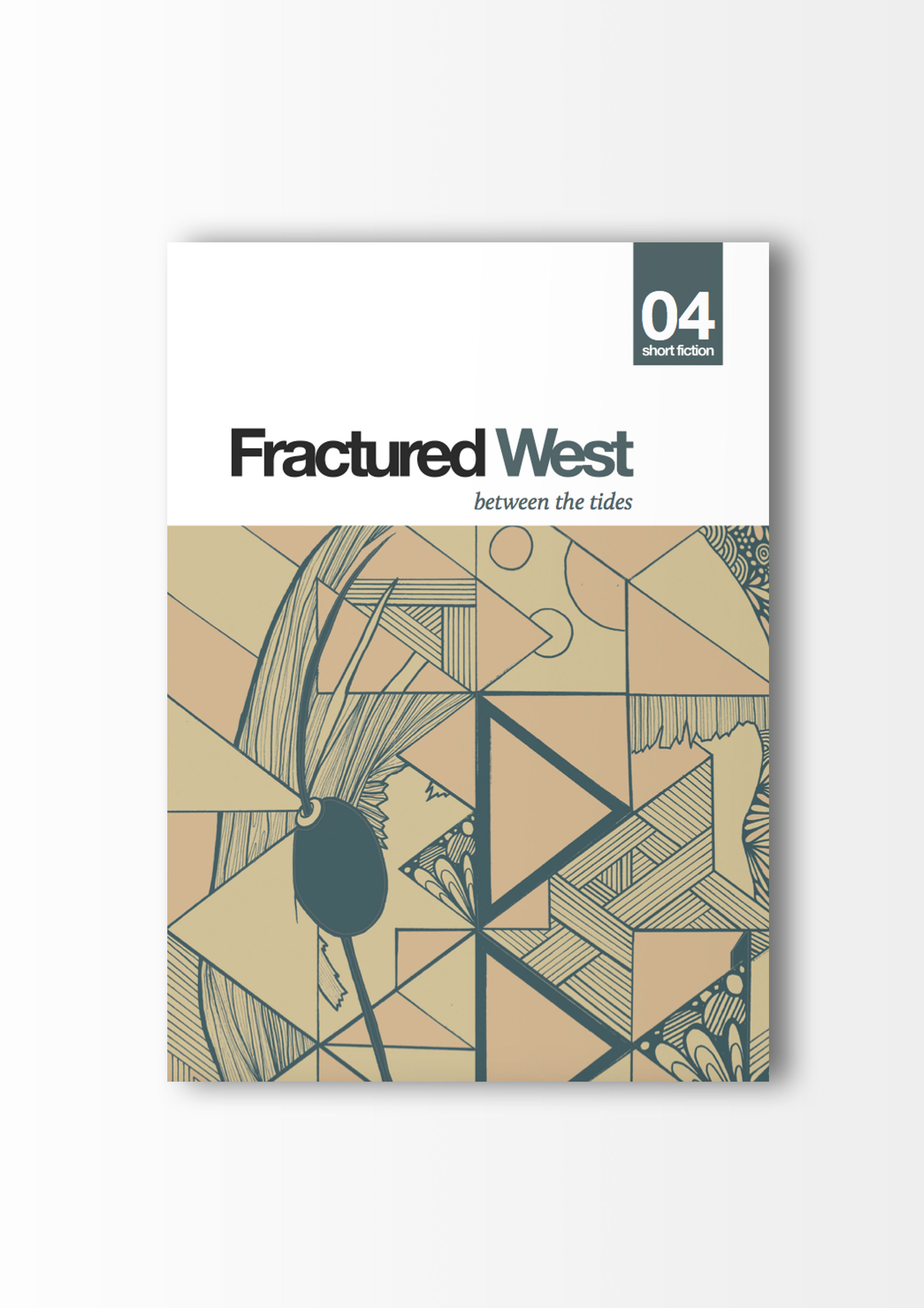fractured west poetry magazine cover illustration geometric