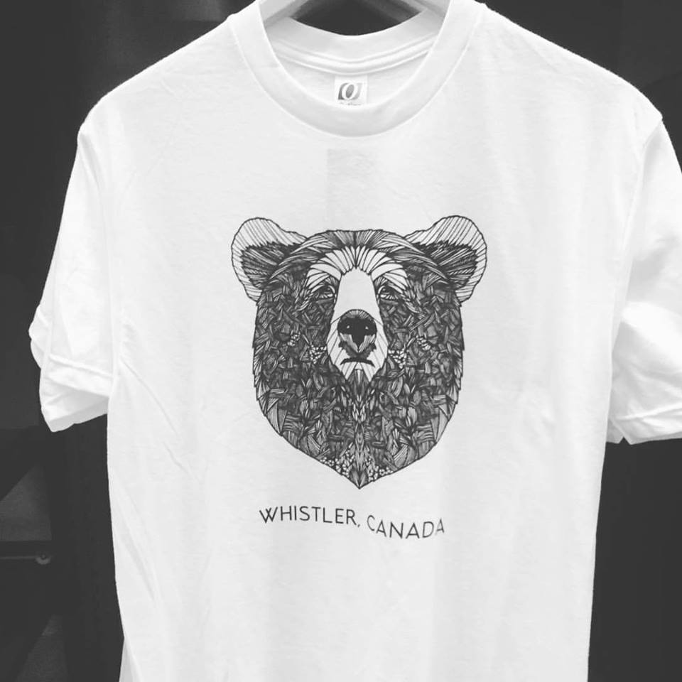 whistler black comb tshirts clare corfield carr bear design illustrator freelance