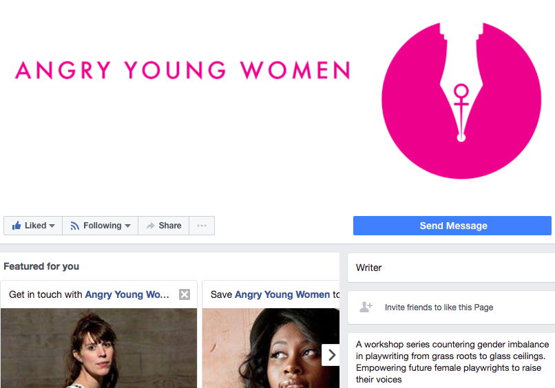 logo design angry young women female writers feminism feminist