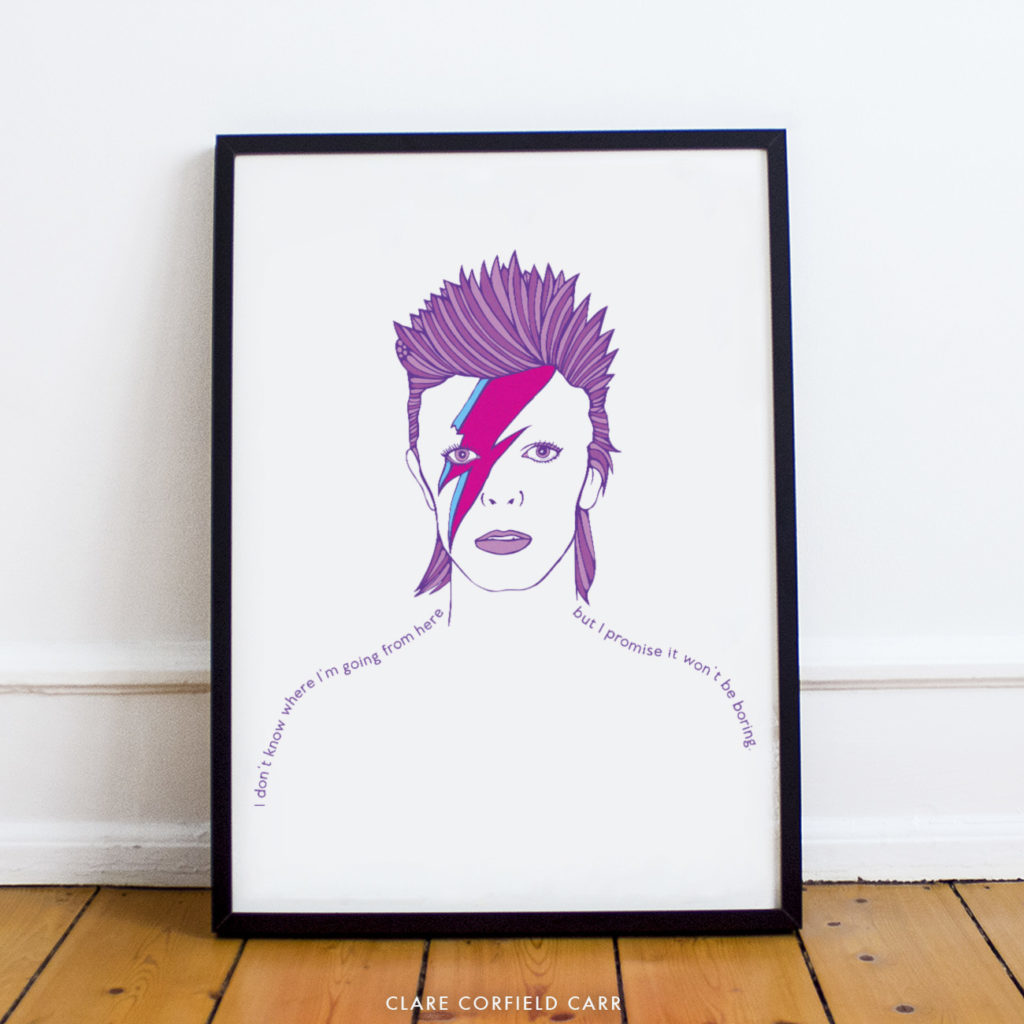 davie bowie illustration drawing art